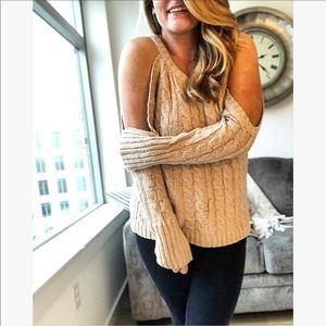 Sweaters - Shaina Cold Shoulder Sweater